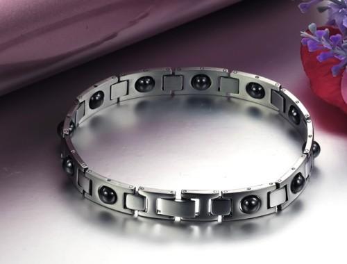 Купить мужской магнитно-гематитовый браслет из стали 316L в Минске