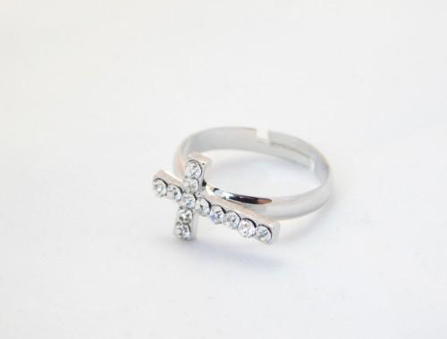 Купить женское кольцо с крестиком в Минске