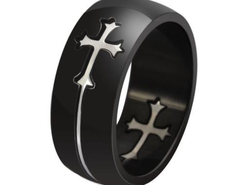 Составное мужское кольцо из стали