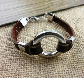 Купить браслет из кожи коричневого цвета в Минске