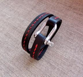 Кожаный браслет ручной работы DIFUES leather
