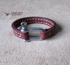 Купить женский браслет ручной работы из натуральной кожи в Минске