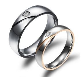 Купить кольца для влюблённых с кубич. цирконием в Минске