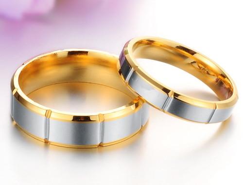 Кольца для влюблённых с позолотой