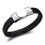 Кожаный браслет на магнитной застёжке