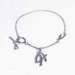 Женский браслет с палладиевым покрытием