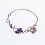 Позолоченный браслет с синей эмалью