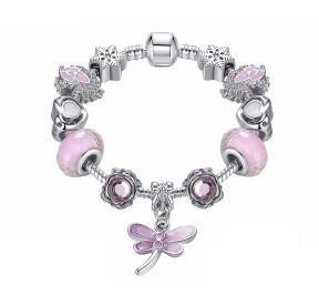 Браслет розовый Pandora