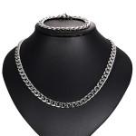 Купить мужской комплект браслет и цепочку на шею