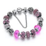 женский розовый браслет