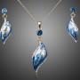 женский комплект с синей эмалью