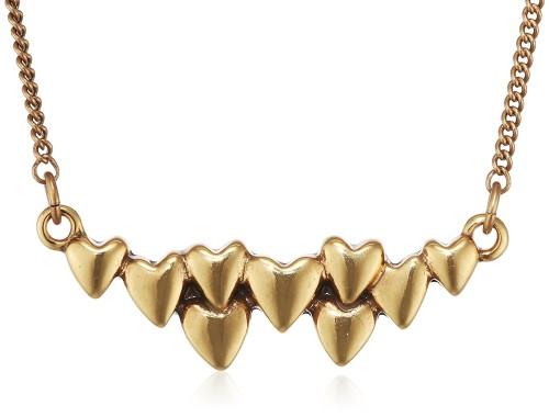 позолоченное ожерелье с сердцами Pilgrim