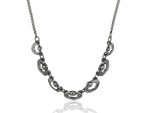 гематитовое ожерелье Pilgrim со Сваровски