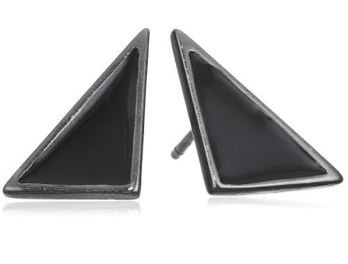 Купить треугольные гематитовые серьги Pilgrim в Минске