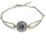 браслет с голубым кристаллом