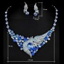 Шикарное ожерелье со Swarovski с серьгами