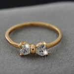 кольцо с бантиком