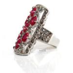 кольцо с розовыми Сваровски