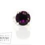 кольцо PILGRIM с фиолетовым Сваровски