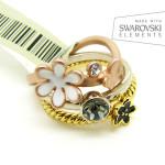 тройное кольцо со Сваровски