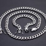 Длинная мужская цепочка и браслет