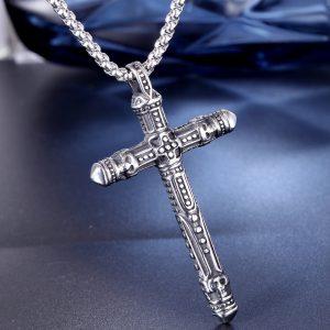 """Кулон """"Крест"""" из нержавеющей стали"""
