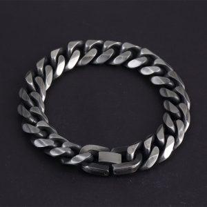 Античный стальной браслет