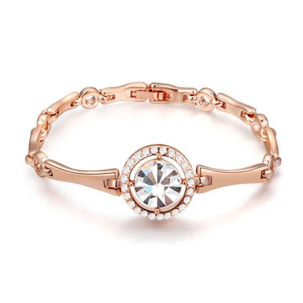 Женский браслет с большим кристаллом Сваровски