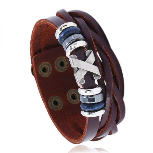 Женский коричневый браслет