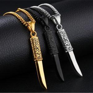 Кулон нож