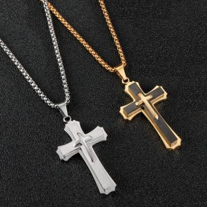 Мужской стальной крест