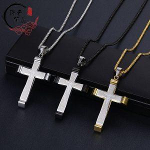 Мужской крест из стали