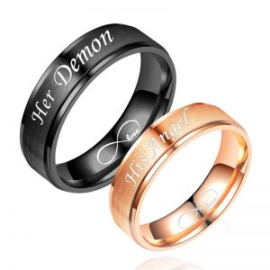 Парные кольца Её демон, его ангел