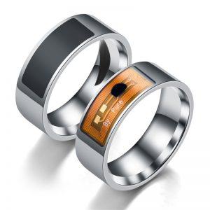Стальное кольцо с NFC