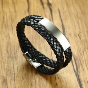 Плетёный браслет для гравировки